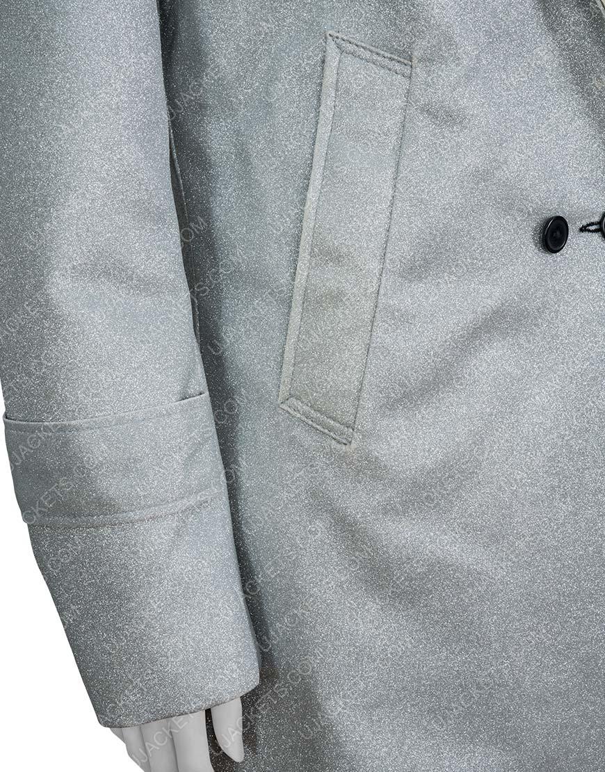 Dynasty S03 Fallon Carrington Elizabeth Gillies Metallic Coat