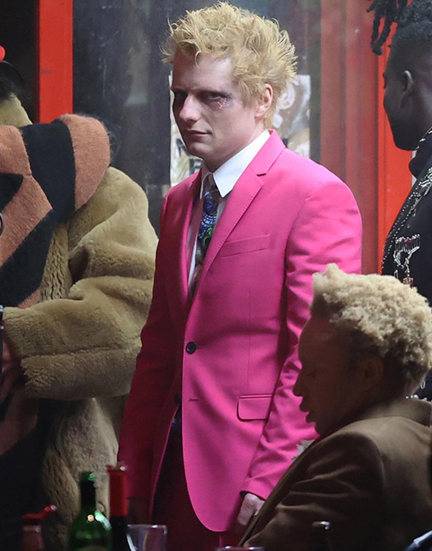 Ed Sheeran Bad Habits 2021 Pink Blazer Suit For Men