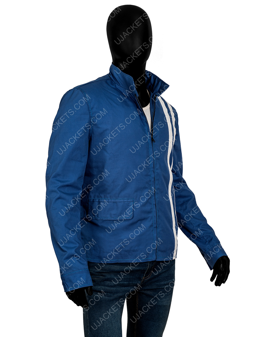 Elvis Presley Speedway Striped Blue Jacket