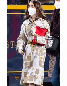 Emily-In-Paris-S02-Lily-Collins-Printed-Coat