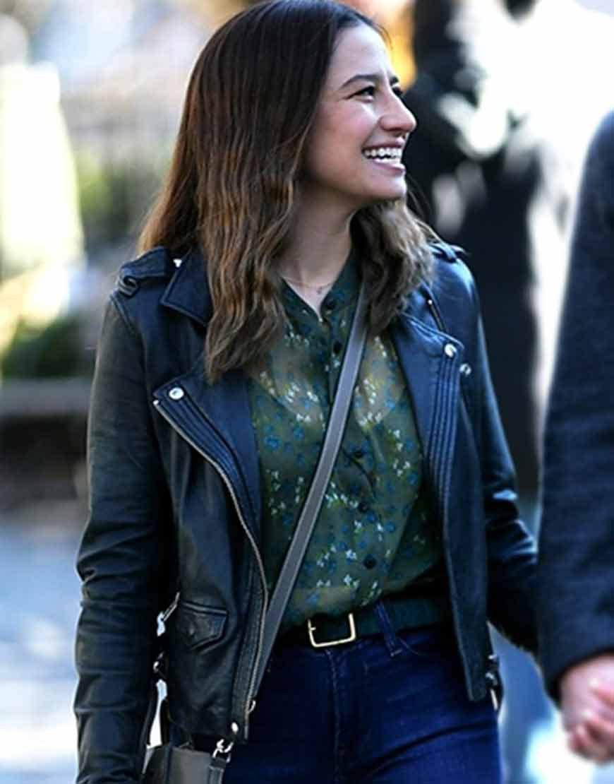 False-Positive-2021-Ilana-Glazer-Black-Leather-Jacket