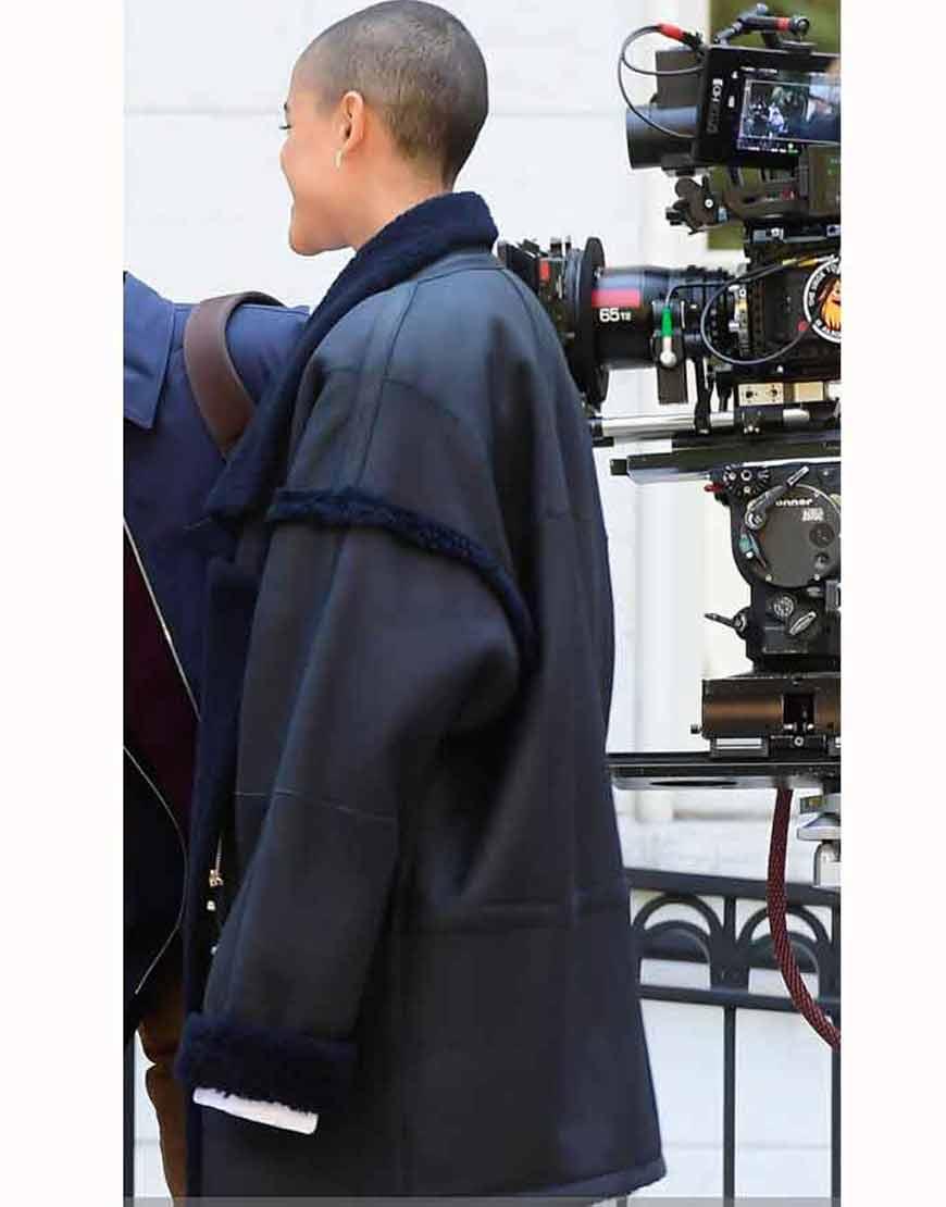 Gossip-Girl-2021-Julien-Calloway-Black-Shearling-Coat