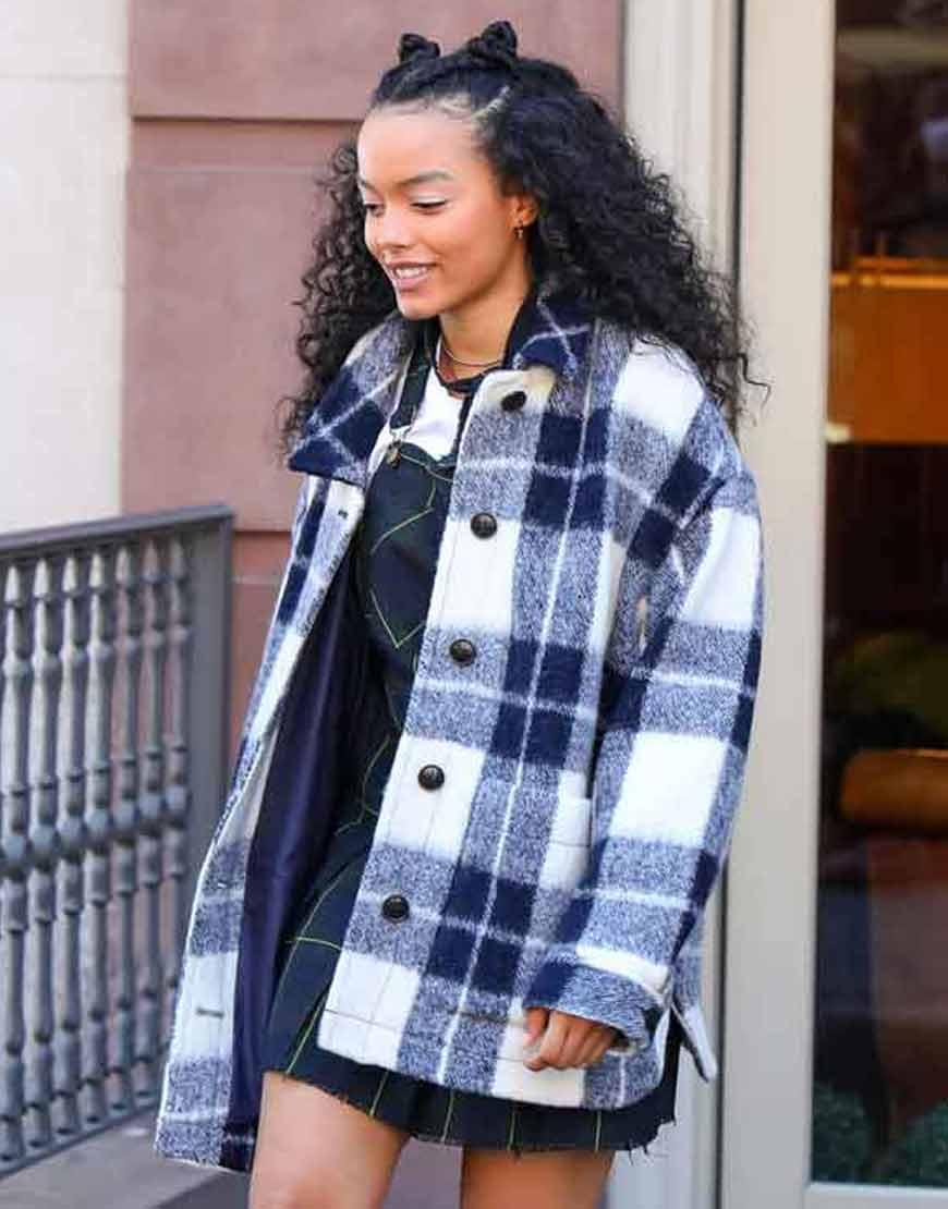 Gossip-Girl-2021-Whitney-Peak-Plaid-Jacket