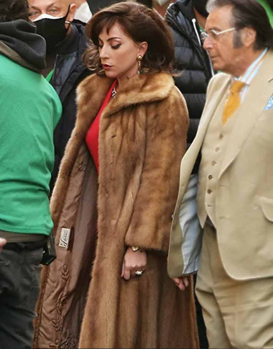 House-of-Gucci-2021-Lady-Gaga-Brown-Fur-Trench-Coat