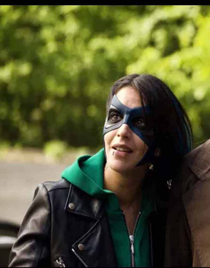 How-I-Became-a-Super-Hero-Callista-Black-Leather-Jacket