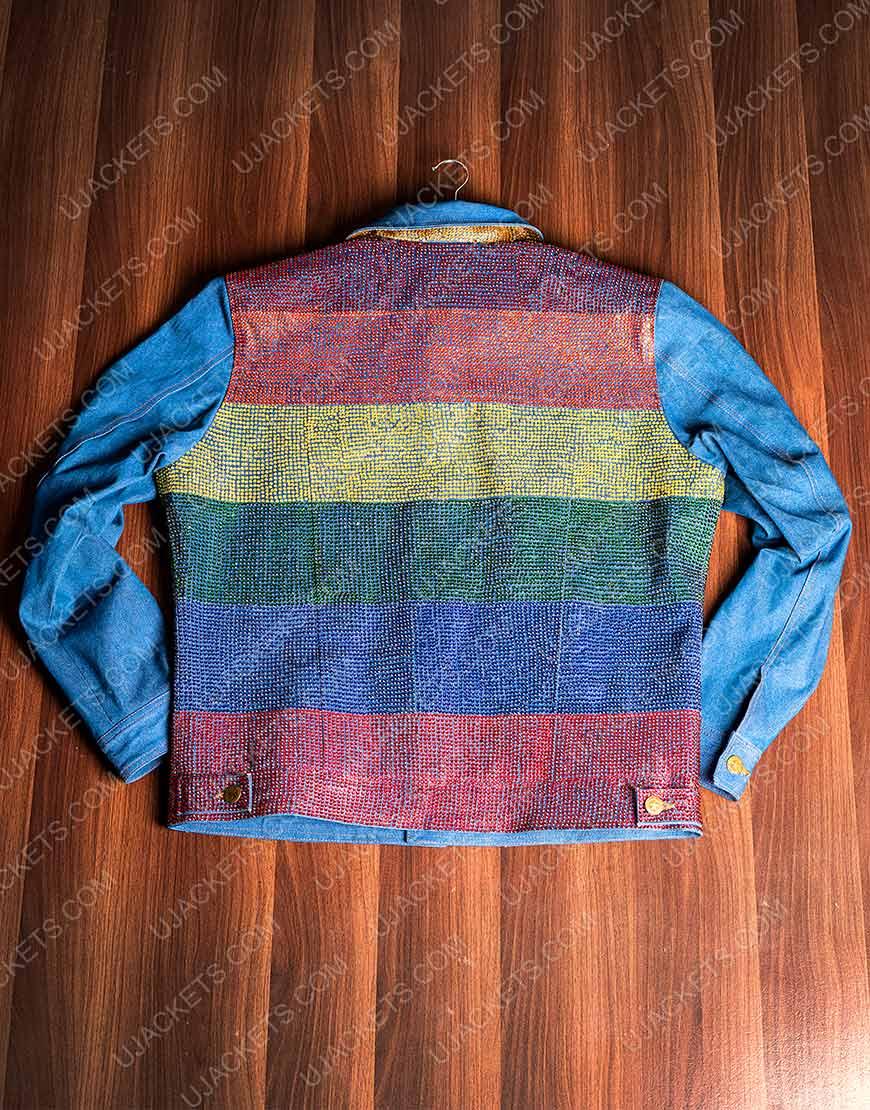Kamala Harris Denim Rainbow Jacket