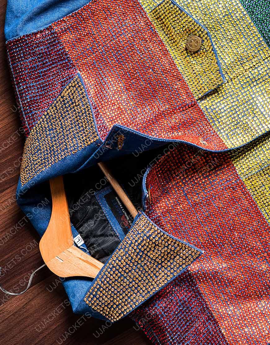 Kamala Harris Flag Denim Rainbow Jacket