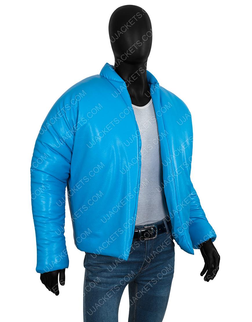 Kanye West Yeezy Gap 2021 Blue Puffer Jacket for Men