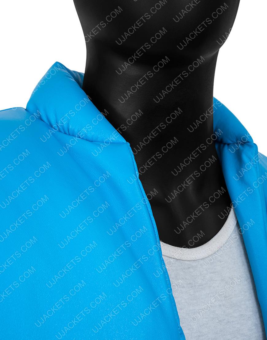 Kanye West Yeezy Gap 2021 Blue Puffer Jacket