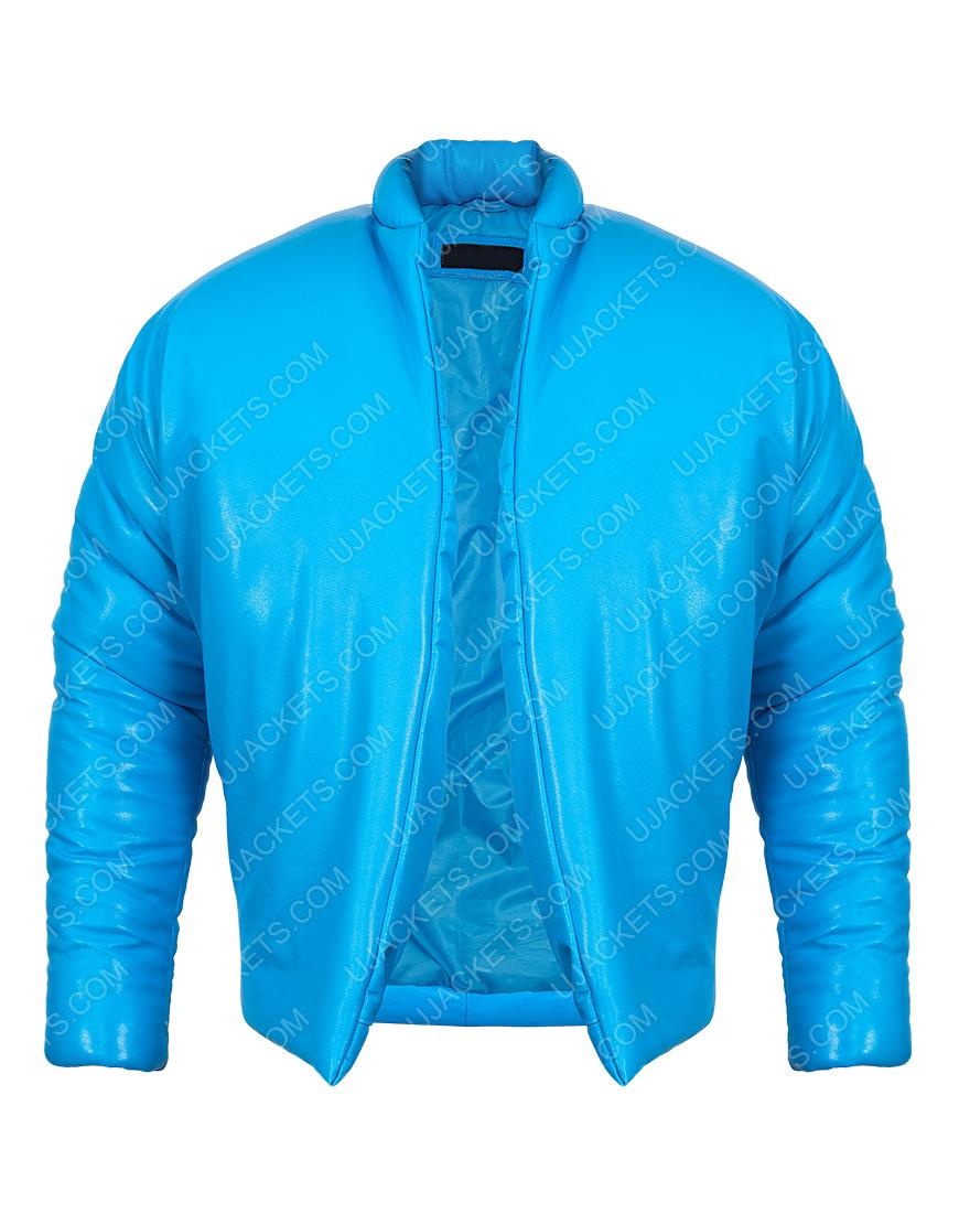 Kanye West Yeezy Gap Blue Puffer Jacket for Men