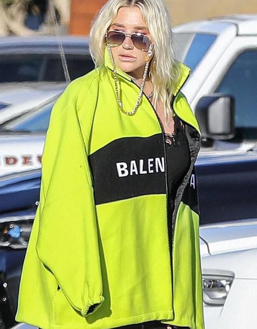 Kesha Highlighter Balenciaga Jacket