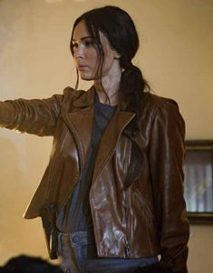 Midnight-in-the-Switchgrass-Megan-Fox-Brown-Leather-Jacket