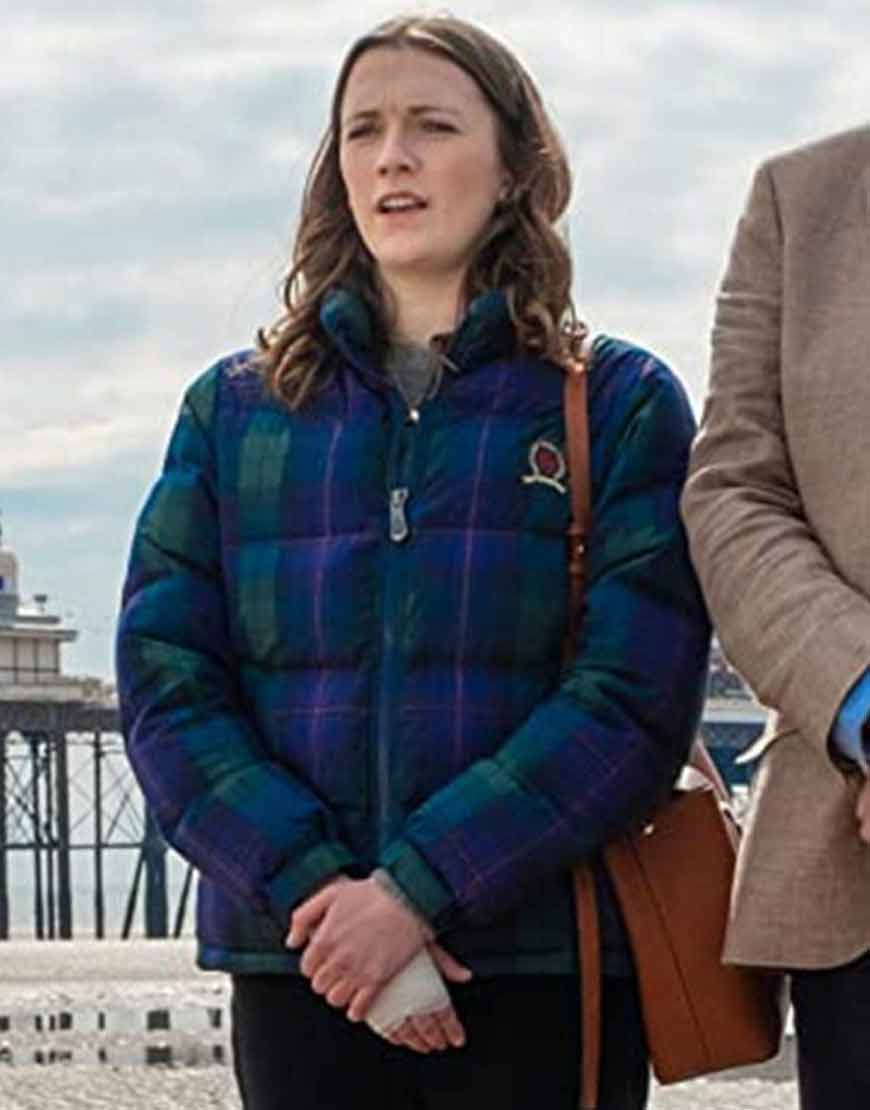 TV-Series-Feel-Good-Charlotte-Ritchie-Blue-Puffer-Jacket
