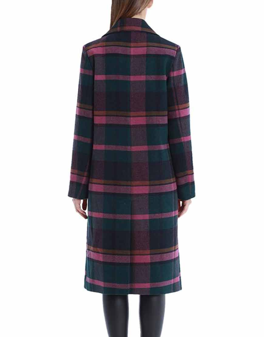 The-Bold-Type-2021-Sutton-Brady-Plaid-Trench-Coat