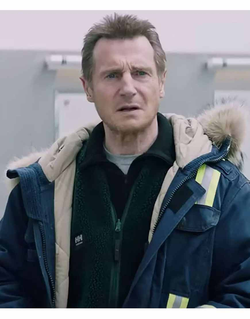 The-Ice-Road-2021-Mike-Blue-Hooded-Coat