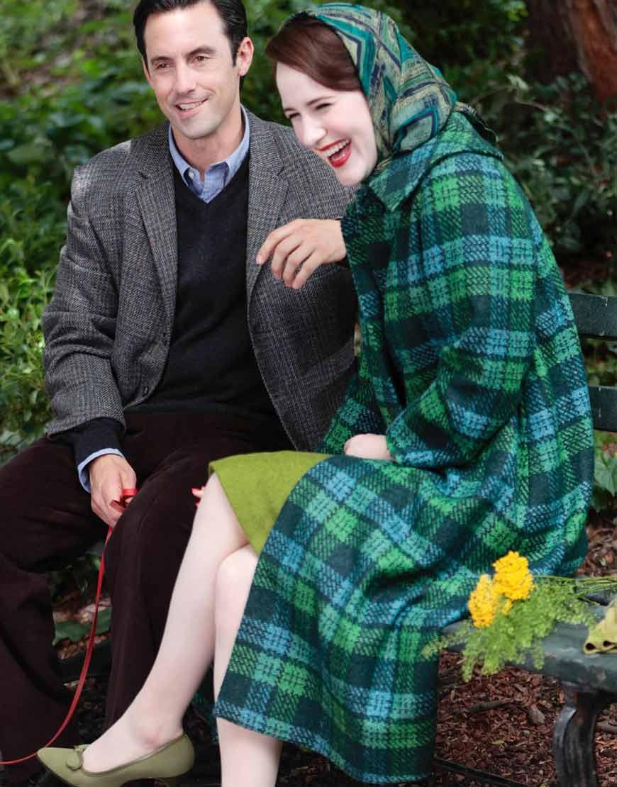 The-Marvelous-Mrs.-Maisel-Rachel-Brosnahan-Green-Plaid-Coat