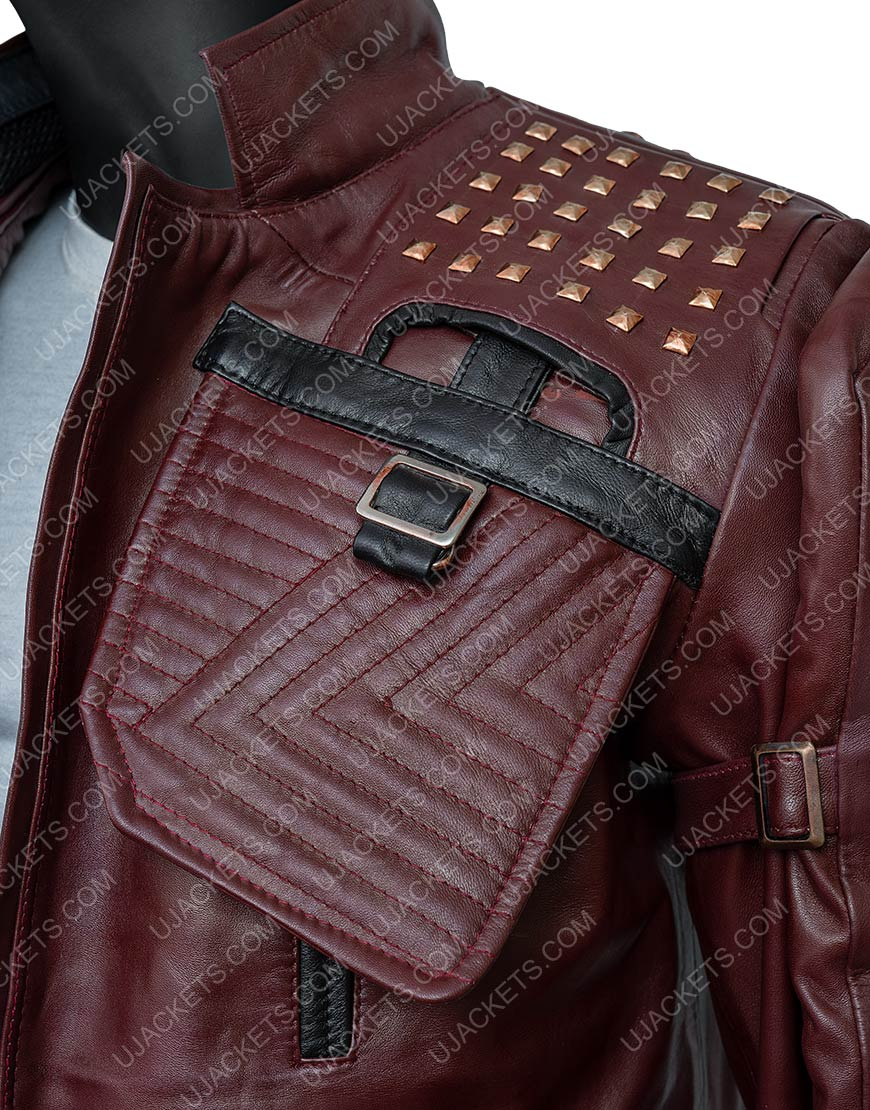 Video Game Marvel's Guardians Of The Galaxy 2021 Star-Lord Brown Leather Jacket