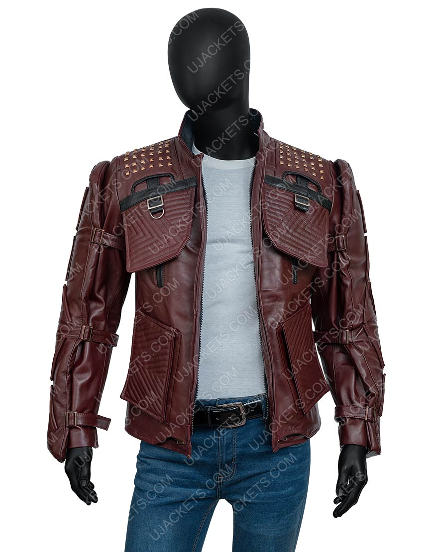 Video Game Marvel's Guardians Of The Galaxy 2021 Star-Lord Leather Jacket