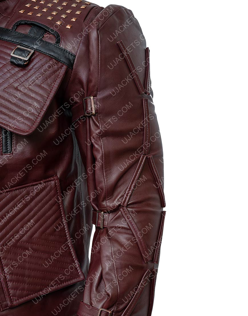 Video Game Marvel's Guardians Of The Galaxy 2021 Star Lord Leather Jacket