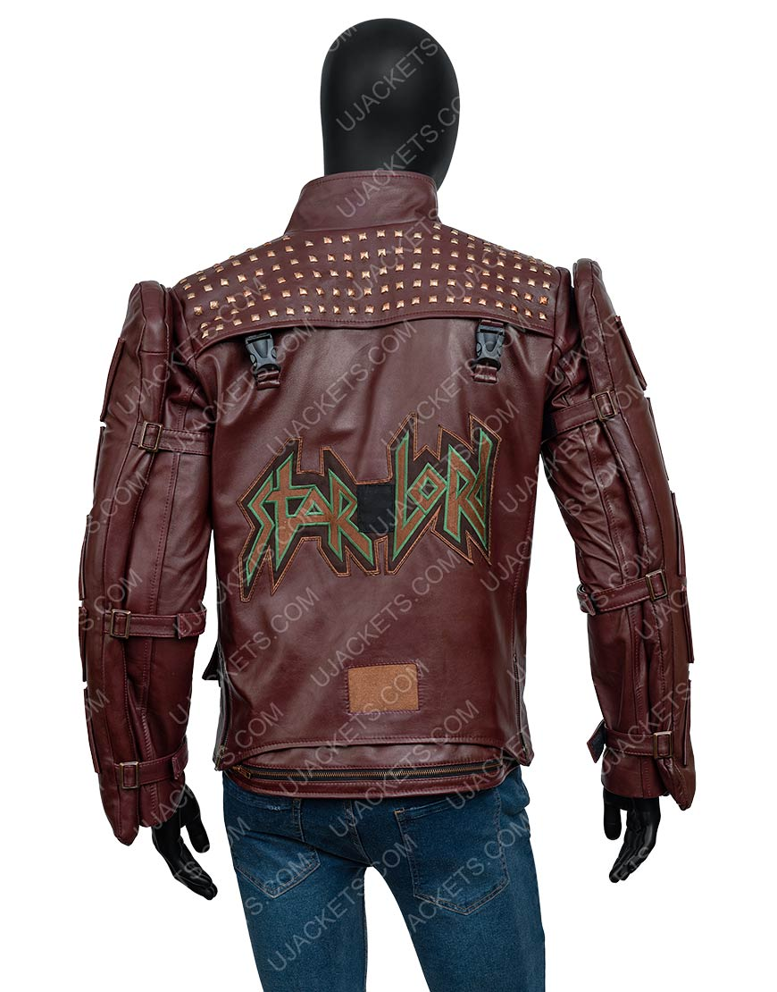 Video Game Marvel's Guardians Of The Galaxy Star-Lord Leather Jacket