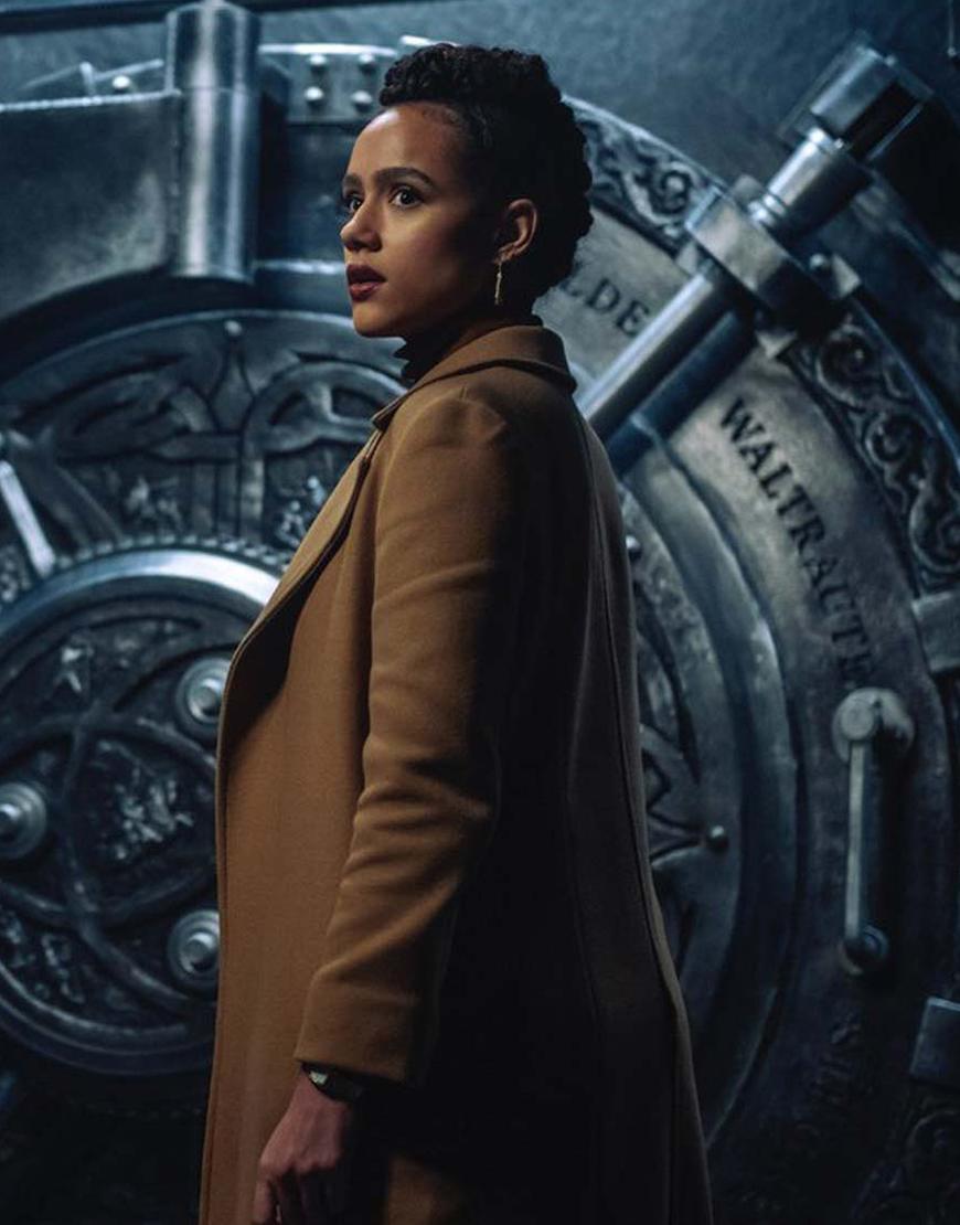Army Of Thieves 2021 Nathalie Emmanuel Brown Coat