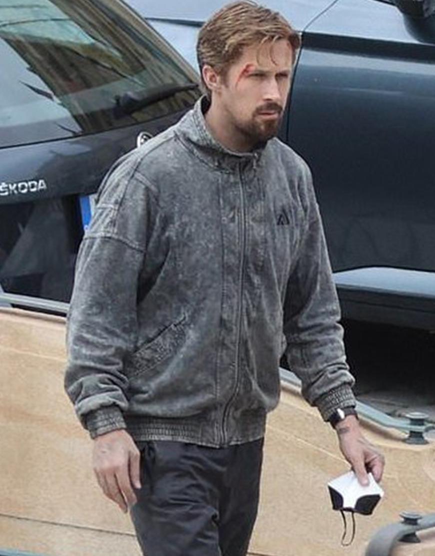 Court Gentry The Gray Man Ryan Gosling Grey Cotton Jacket