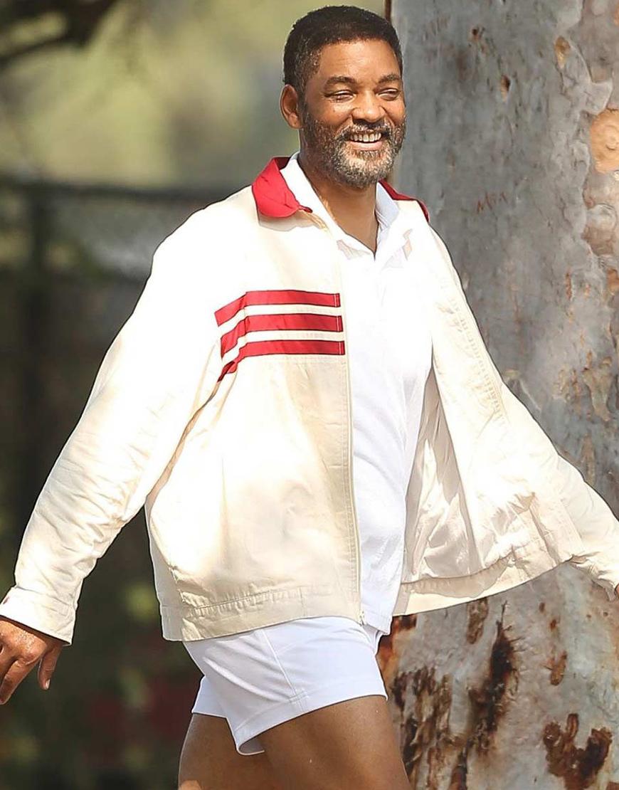 King Richard 2021 Will Smith Beige Cotton Jacket