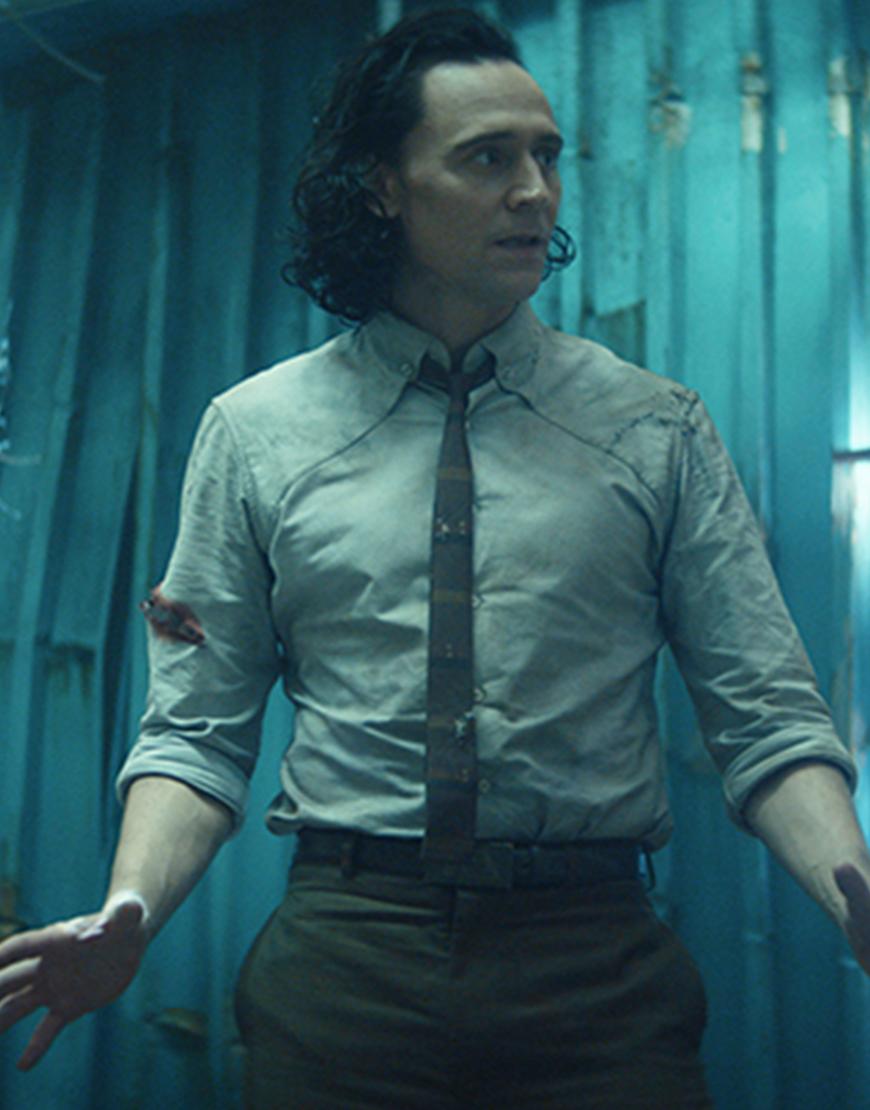 Loki TVA 2021 Variant White Tie And Shirt