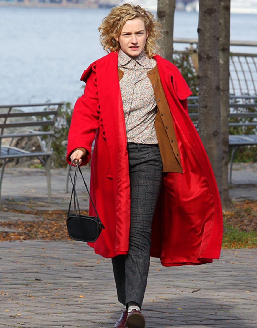 Modern Love S02 Julia Garner Red Coat