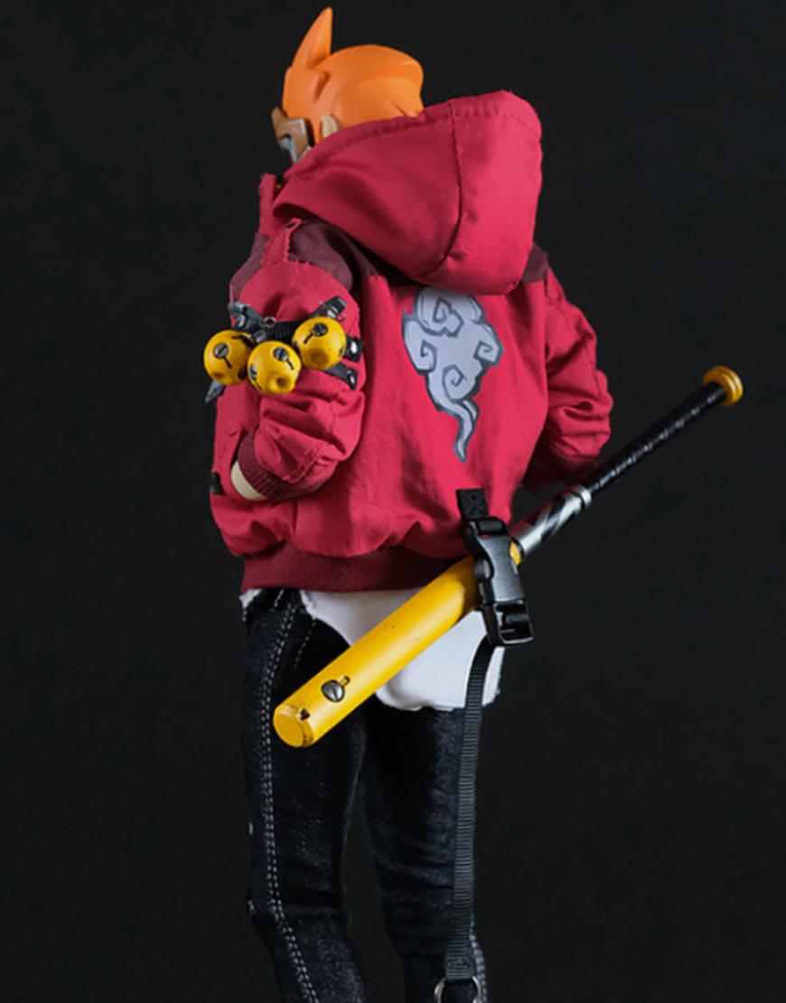 No Fear No Mercy Goku Maroon Hooded Jacket