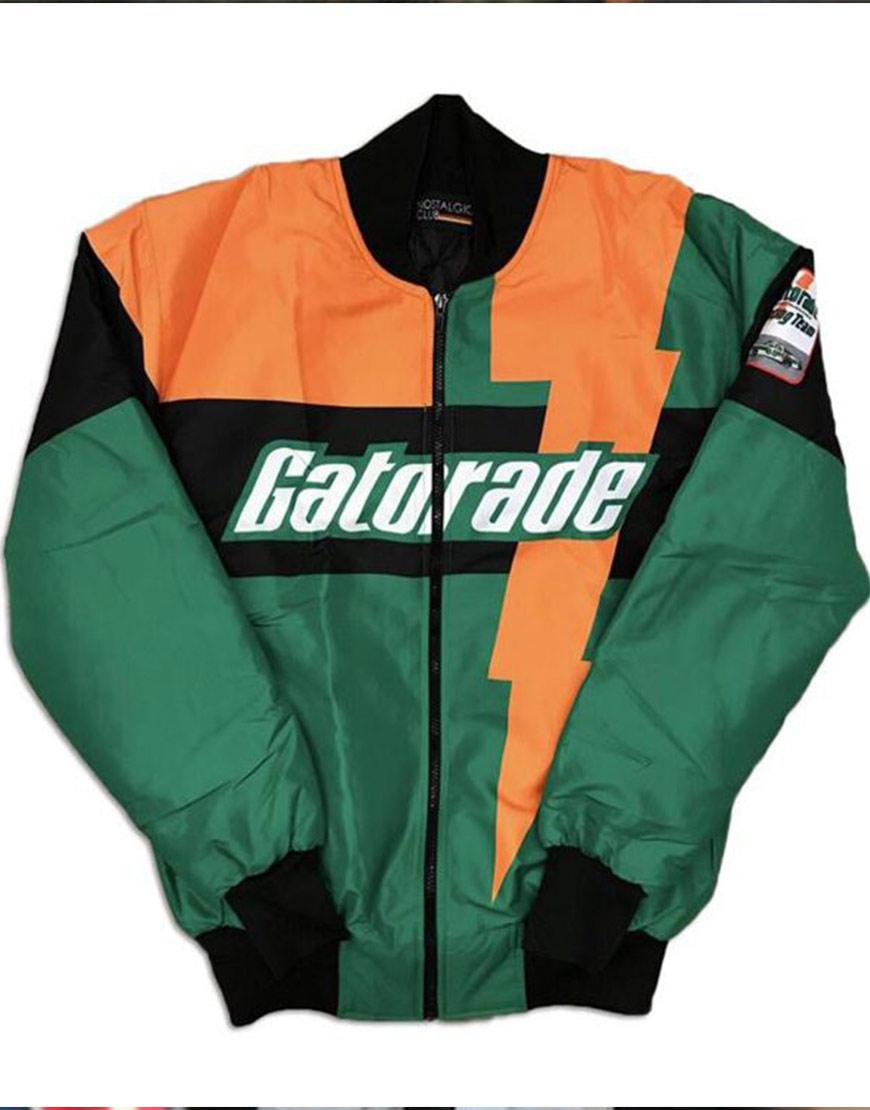 Nostalgic Club Gatorade Green and Orange Satin Jacket