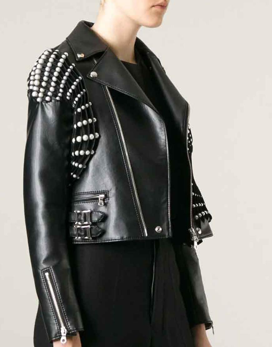 RHOBH Erika Jayne Pearl Pleated Black Jacket