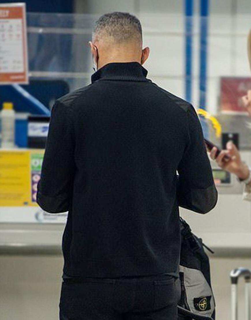 Ryan Giggs Manchester Black Cotton Jacket