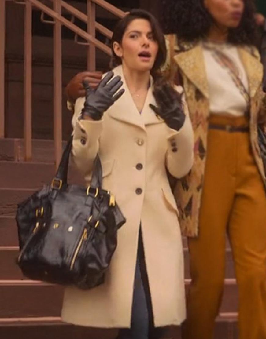 Sarah Shahi Sexlife Billie Connelly Mid-Length Coat