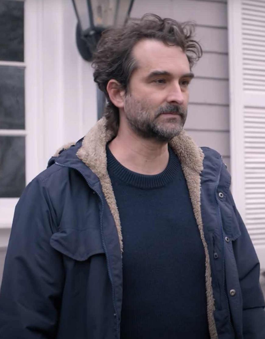 The Chair (2021) Bill Dobson Jay Duplass Black Cotton Jacket