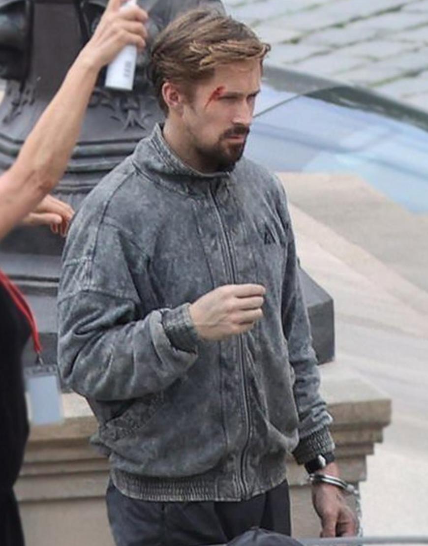 The Gray Man Ryan Gosling Grey Cotton Jacket