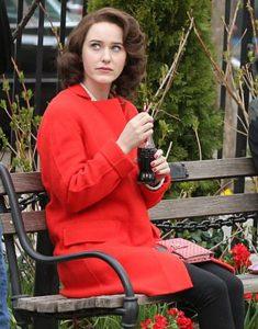 The Marvelous Mrs. Maisel Rachel Brosnahan Red Coat