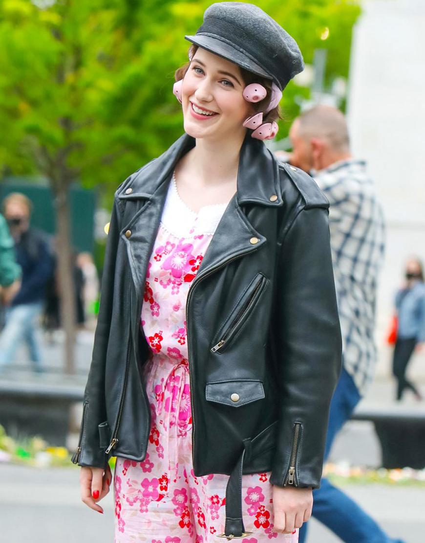 The Marvelous Mrs. Maisel S04 Rachel Brosnahan Leather Jacket