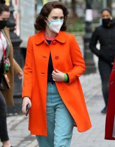 The Marvelous Mrs. Maisel S04 Rachel Brosnahan Orange Coat