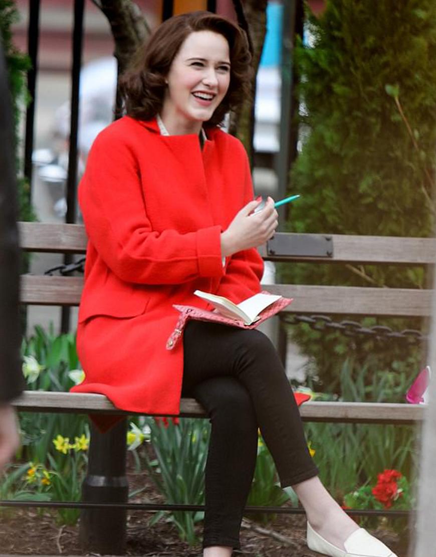 The Marvelous Mrs. Maisel S04 Rachel Brosnahan Red Coat