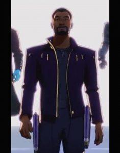 What If… 2021 Chadwick Boseman Purple Jacket