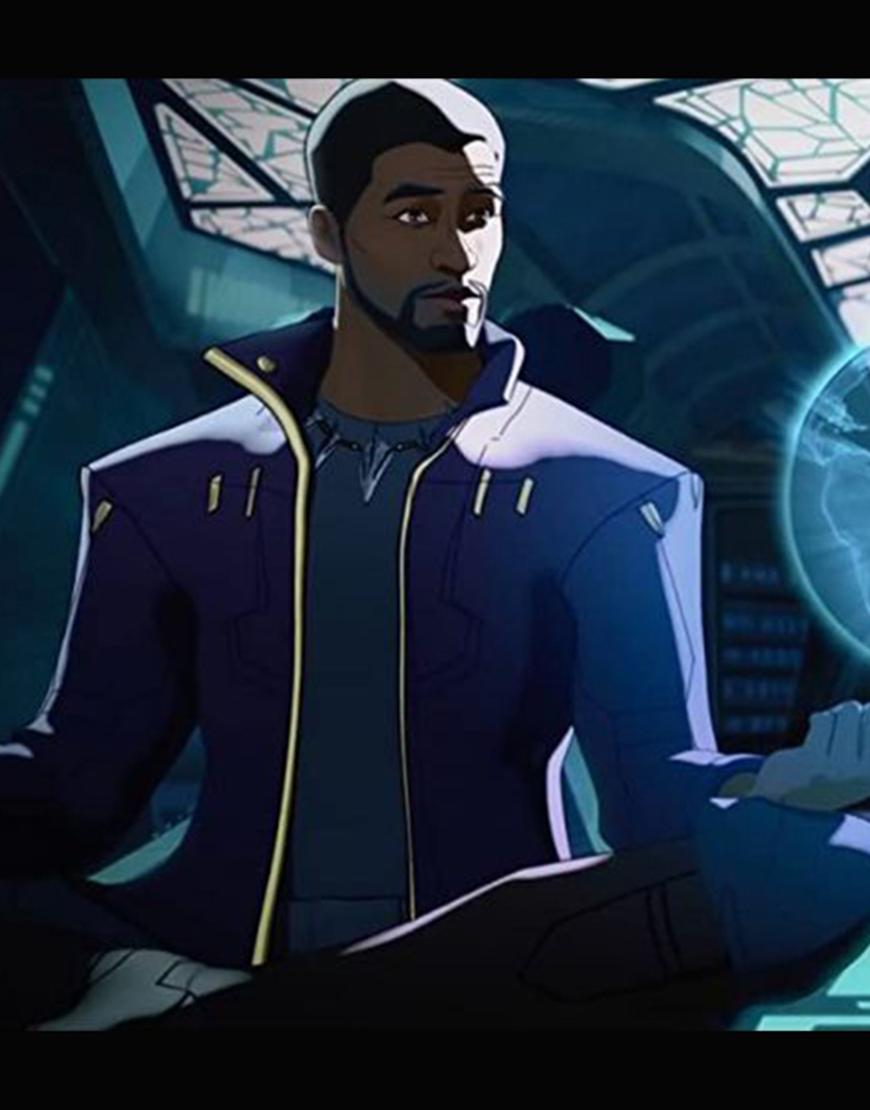 What If… 2021 Chadwick Boseman Star Lord Purple Jacket