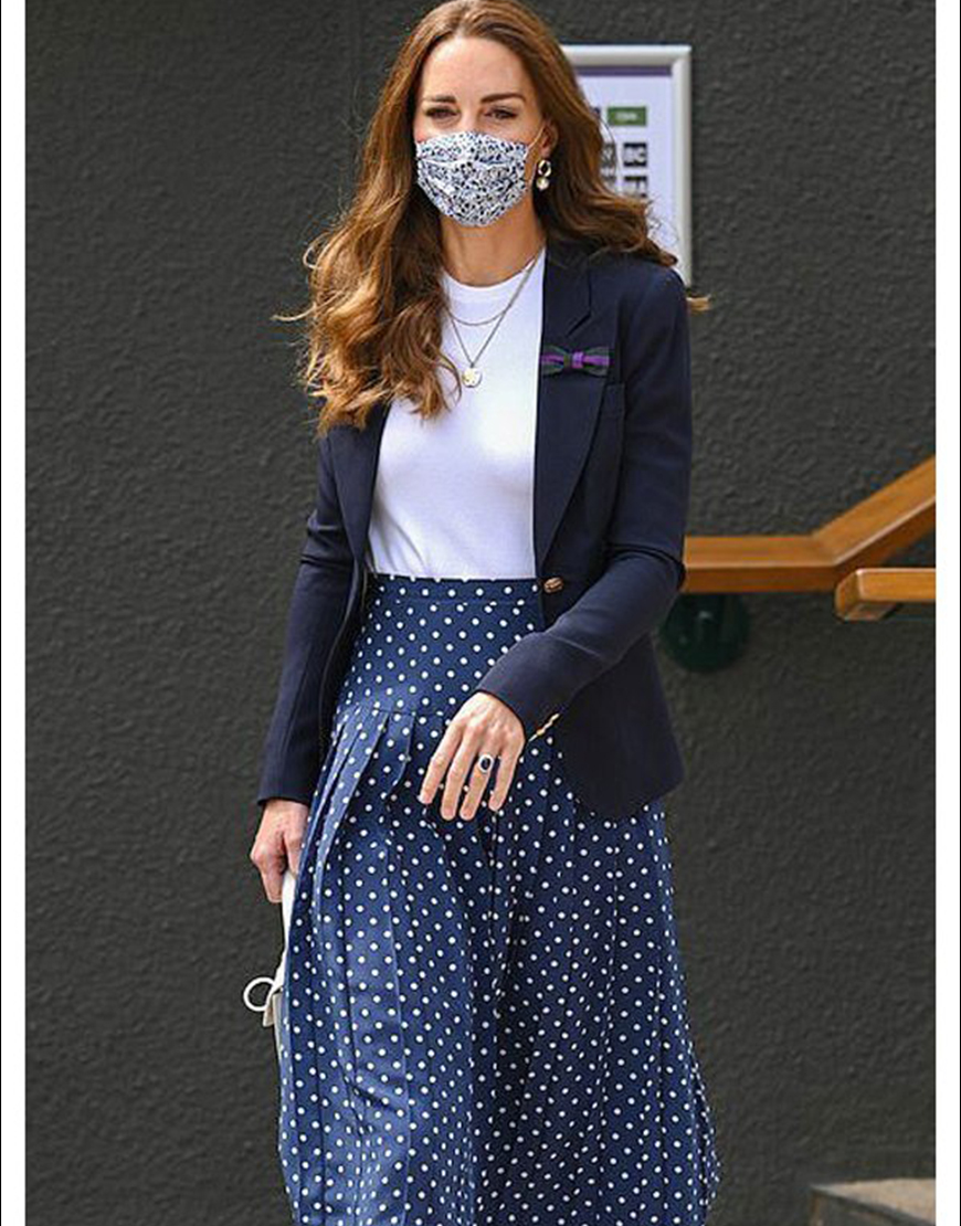 Wimbledon Tournament 2021 Kate Middleton Blue Blazer