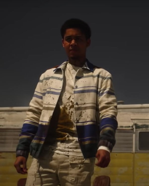 American Horror Stories 2021 Rhenzy Feliz Striped Jacket