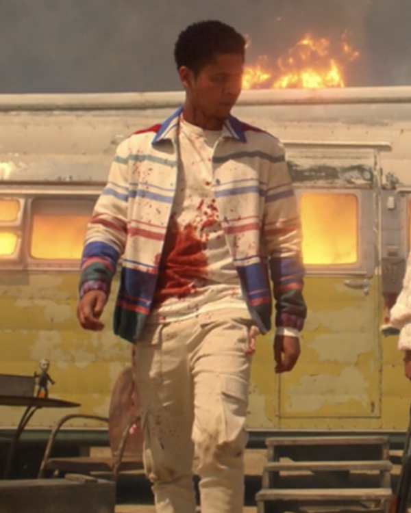 American Horror Stories 2021 Rhenzy Feliz White Striped Jacket