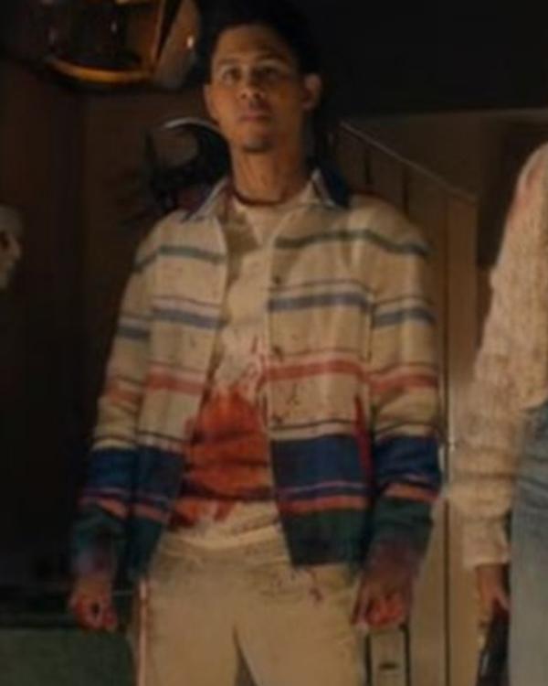 American Horror Stories Rhenzy Feliz Striped Jacket