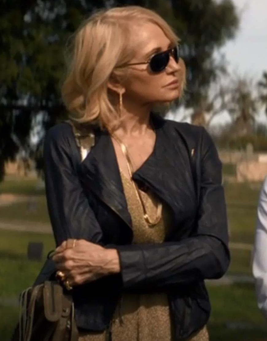 Animal Kingdom S02 Ellen Barkin Black Leather Jacket