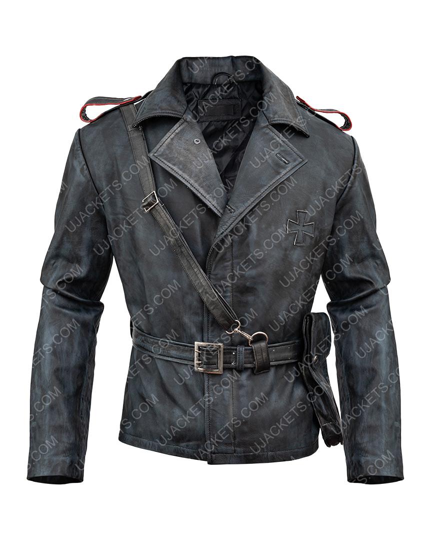 Battlefield 5 Game Peter Müller Distressed Brown Leather Jacket