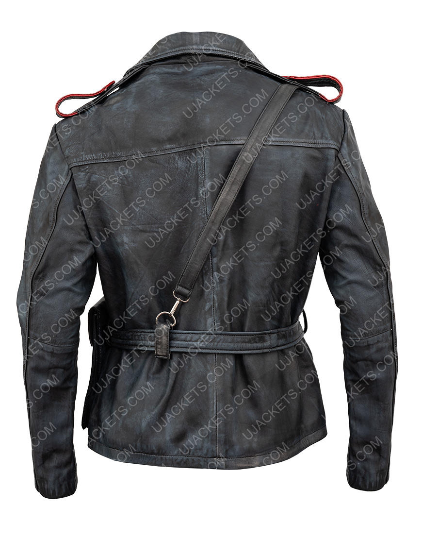 Battlefield 5 Video Game Distressed Brown Leather Jacket