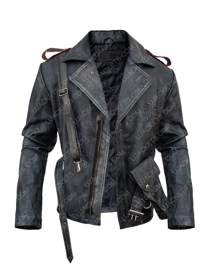 Battlefield 5 Video Game Peter Müller Distressed Leather Jacket